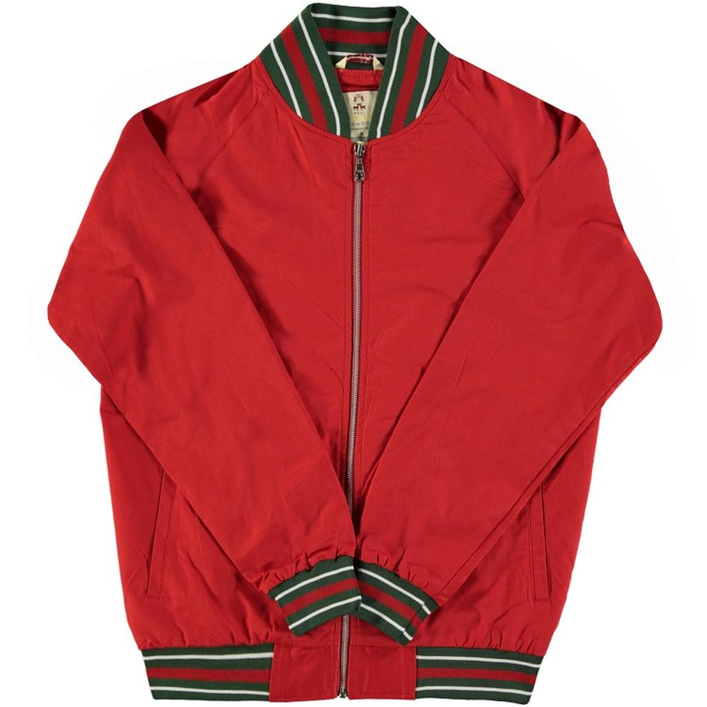 Real Hoxton London Mens Retro Tipped Monkey Jacket Bright Red
