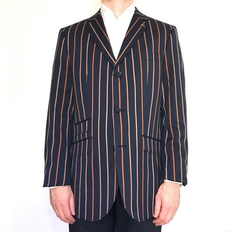 Gabicci Vintage 3 Button Stripe Boating Blazer Jacket Navy Thumbnail 1