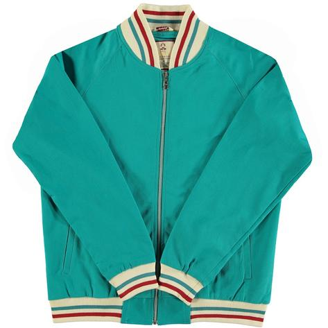 Real Hoxton London Mens Retro Tipped Monkey Jacket Sea Green Thumbnail 1