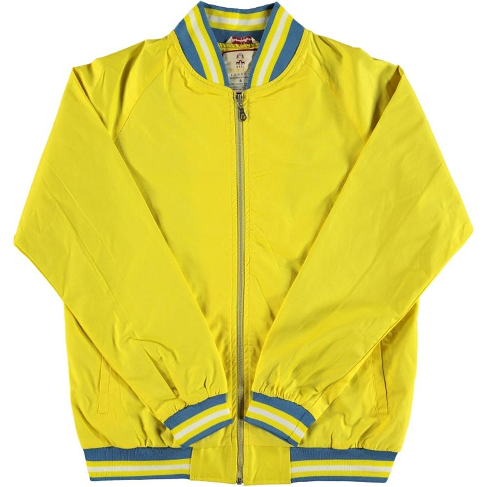 Real Hoxton London Mens Retro Tipped Monkey Jacket Bright Yellow