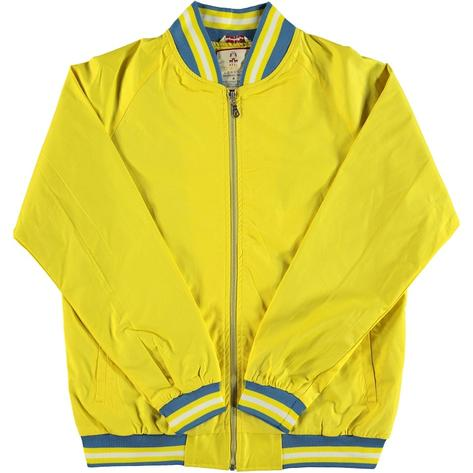 Real Hoxton London Mens Retro Tipped Monkey Jacket Bright Yellow Thumbnail 1