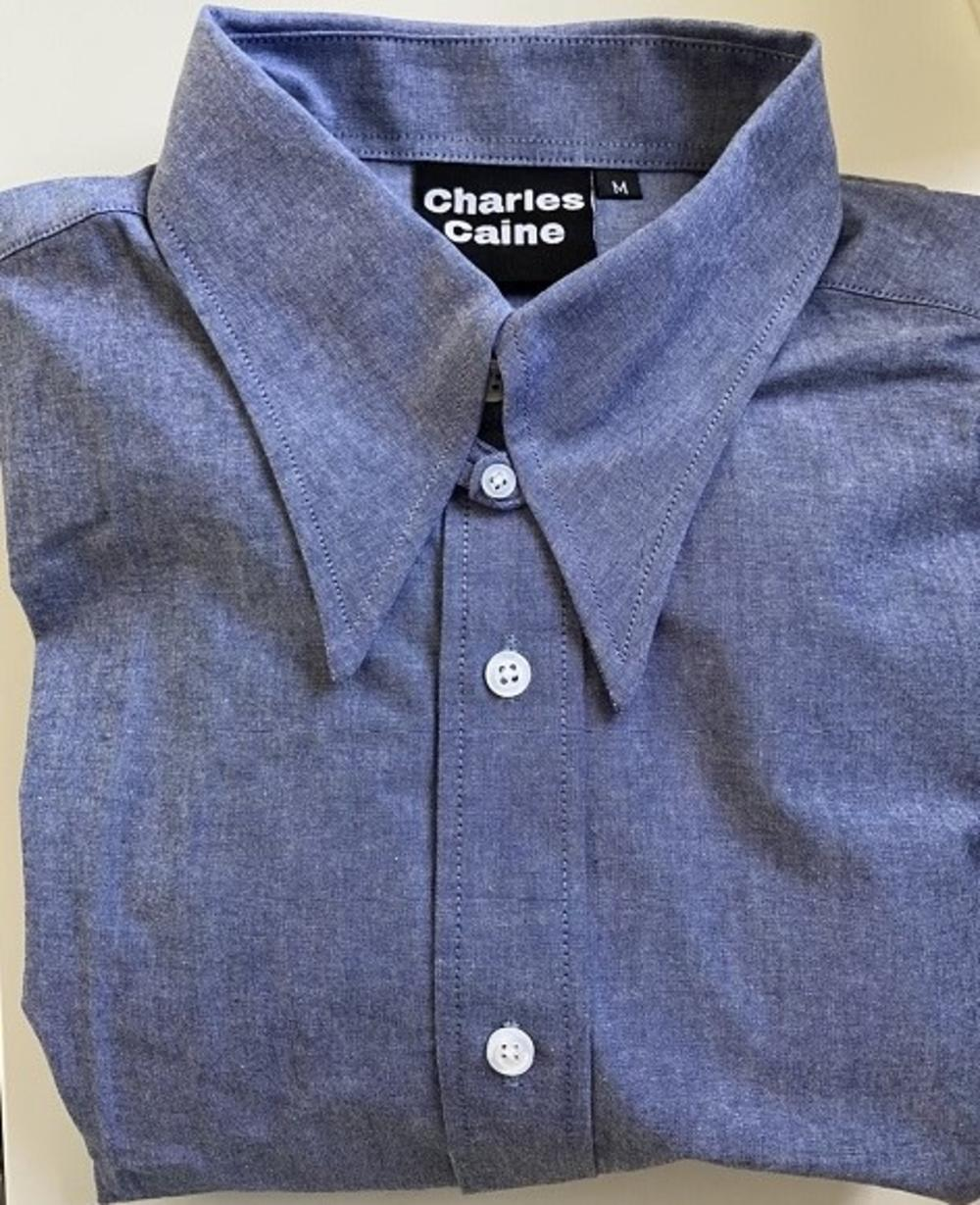 Charles Caine Spearpoint Collar Shirt Denim Chambray