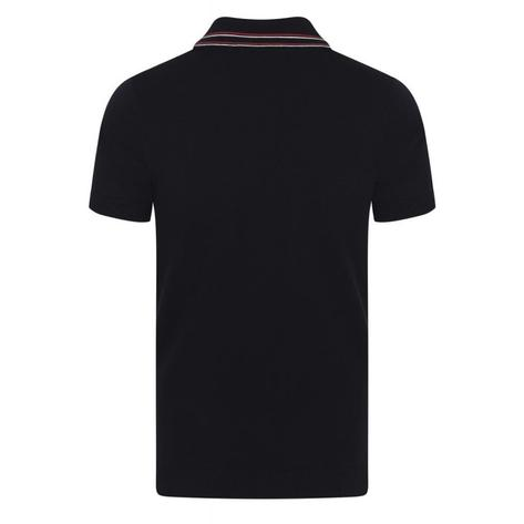 Collectif Knit Polo With Tipping And Pocket Black Thumbnail 2