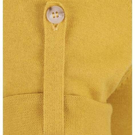 Collectif Knit Polo Tipped Placket And Breast Pocket Yellow Thumbnail 4