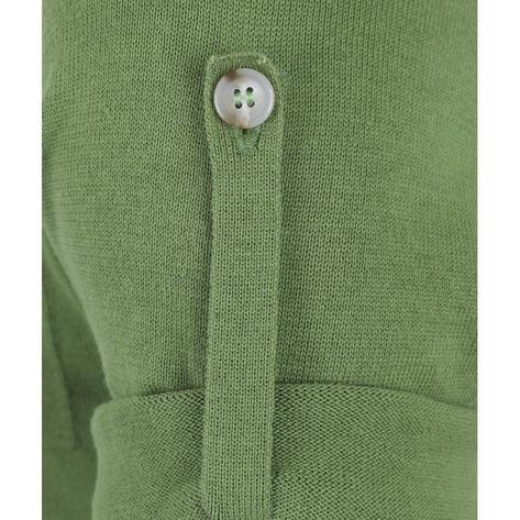 Collectif Knit Polo Tipped Placket And Breast Pocket Green Thumbnail 4