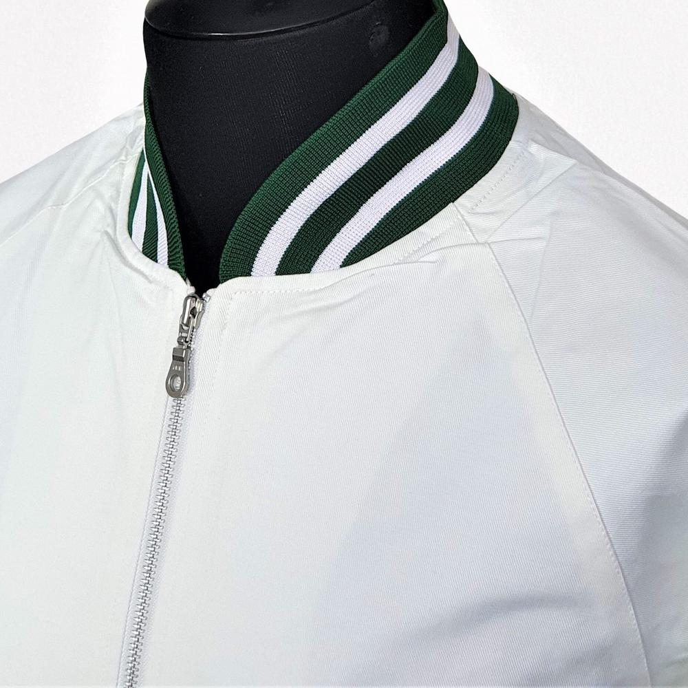 Real Hoxton London Green Tipped Monkey Jacket White