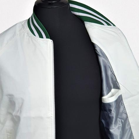 Real Hoxton London Green Tipped Monkey Jacket White Thumbnail 2