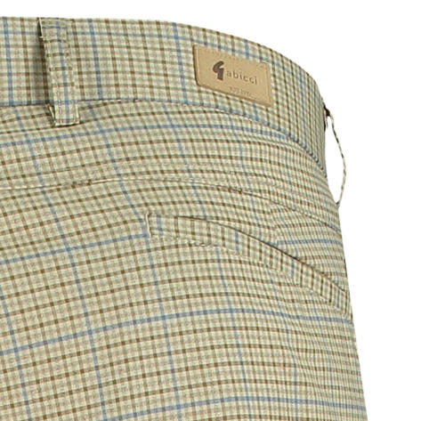 Gabicci Vintage Shepherd's Plaid Check Trousers Stone