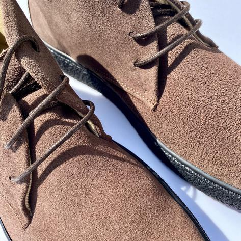 Delicious Junction Suede Playboy Bullitt Boot Choc Brown Thumbnail 2