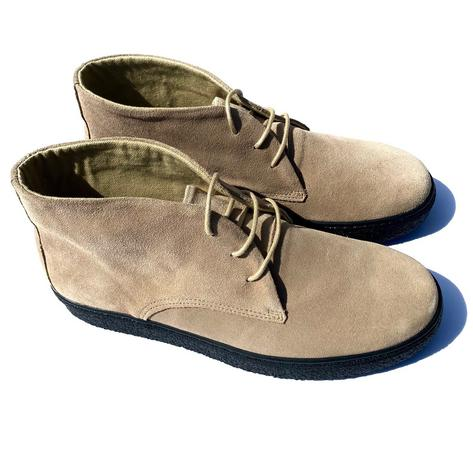 Delicious Junction Suede Playboy Bullitt Boot Beige