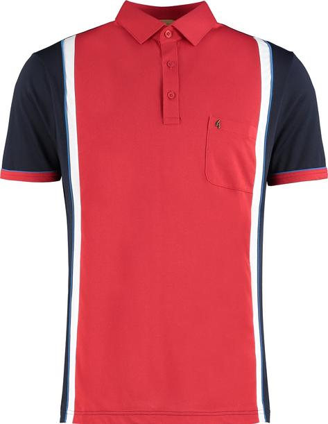 Gabicci Vintage Panel Jersey Polo Shirt Navy