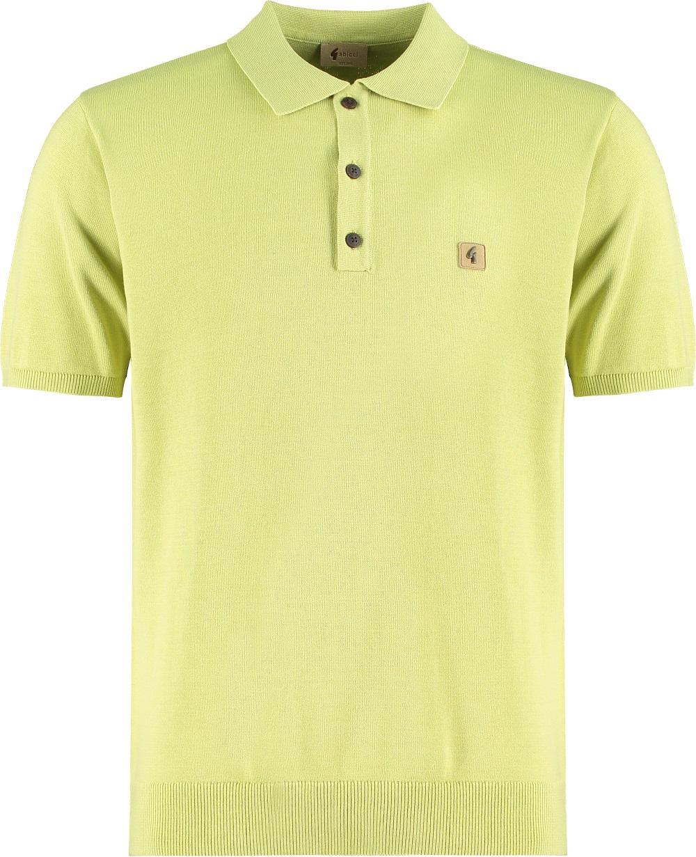 Gabicci Vintage 3 Button Plain Knit Polo Green