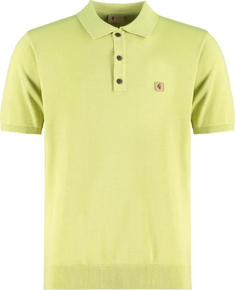 Gabicci Vintage 3 Button Plain Knit Polo Green Thumbnail 1