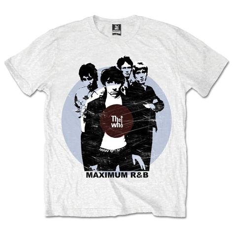 The Who Maximum R&B Target T Shirt White Thumbnail 1