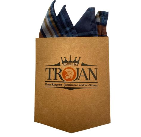 Trojan Records Short Sleeve Check Shirt With Pocket Square Tan Thumbnail 5