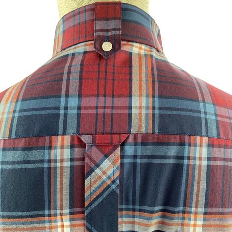 Trojan Records Short Sleeve Check Shirt With Pocket Square Port Thumbnail 3