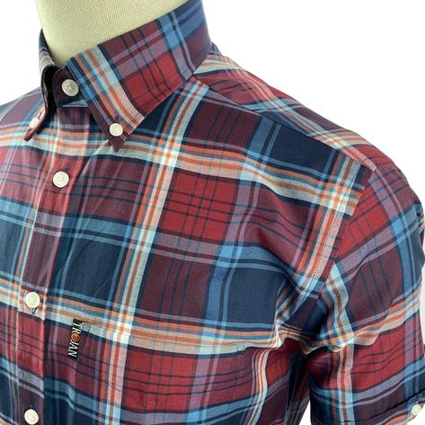 Trojan Records Short Sleeve Check Shirt With Pocket Square Port Thumbnail 2