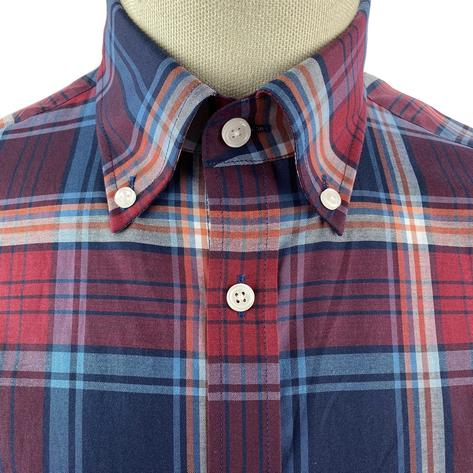 Trojan Records Short Sleeve Check Shirt With Pocket Square Port Thumbnail 4