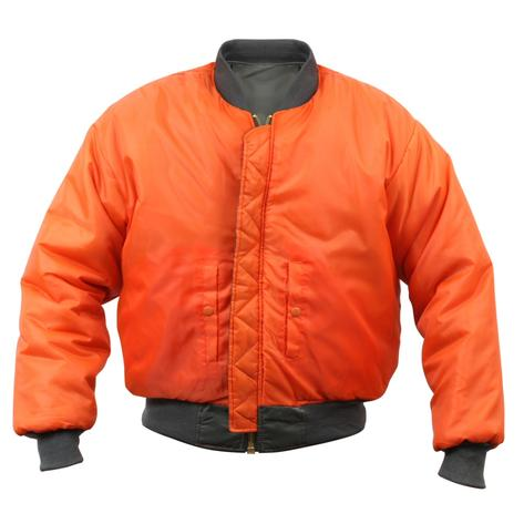 USA Import MA-1 Fighter Pilot Nylon Bomber Jacket Red Thumbnail 3
