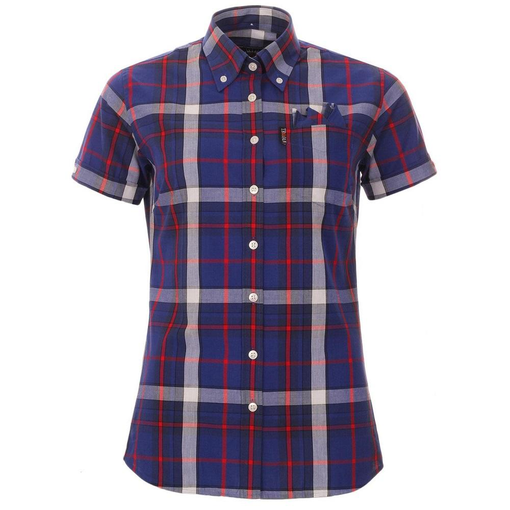Trojan Records WOMEN'S Blue Check Shirt
