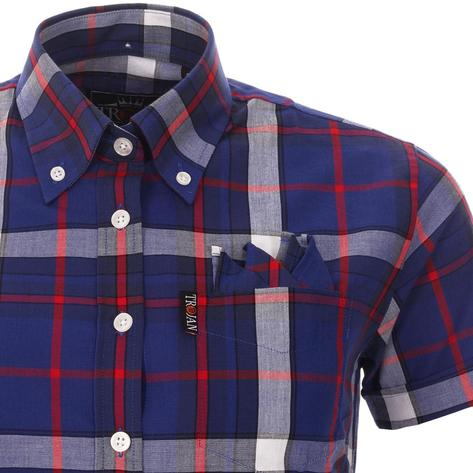 Trojan Records WOMEN'S Blue Check Shirt Thumbnail 3