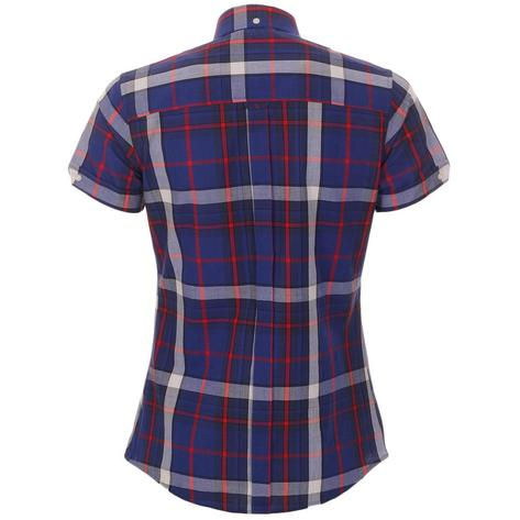 Trojan Records WOMEN'S Blue Check Shirt Thumbnail 2