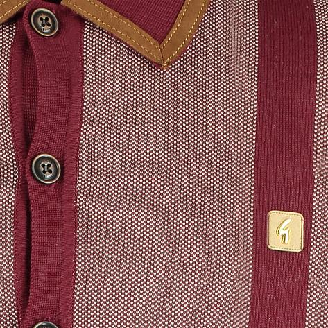 "Gabicci Vintage x Gregory Isaacs ""Suede"" Trim Cardigan Wine Thumbnail 2"