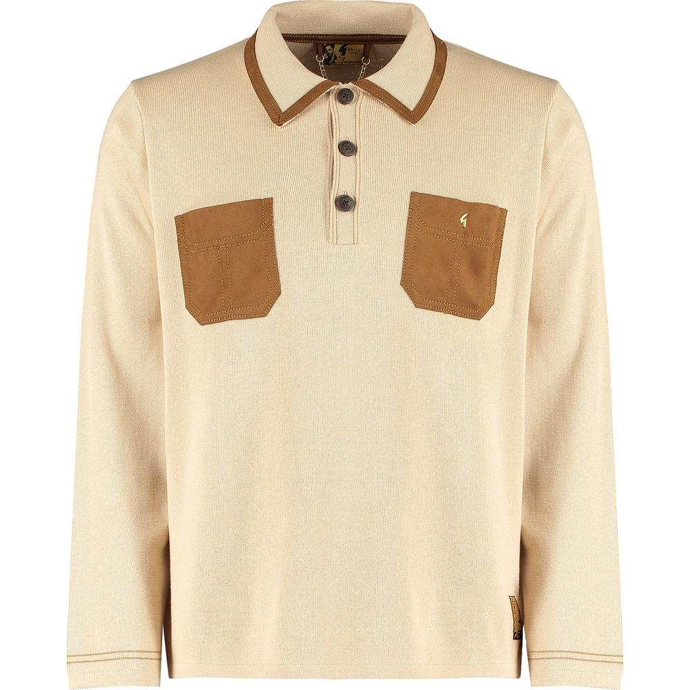"Gabicci Vintage x Gregory Isaacs ""Suede"" Trim Polo Stone"