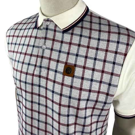 Trojan Records Large Check Panel Polo Fawn Thumbnail 2