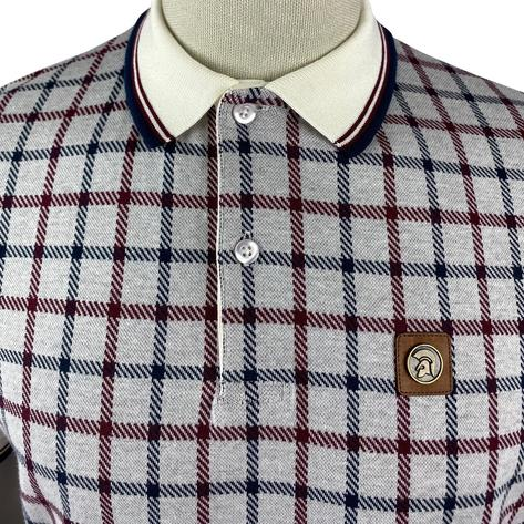 Trojan Records Large Check Panel Polo Fawn Thumbnail 3