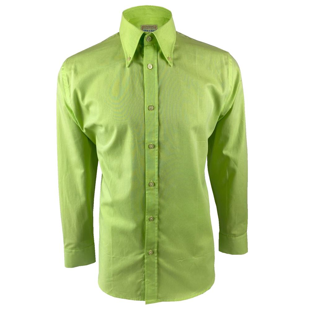 Ska & Soul Cotton Oxford Spearpoint Collar Shirt Lime