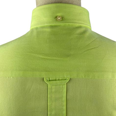 Ska & Soul Cotton Oxford Spearpoint Collar Shirt Lime Thumbnail 5