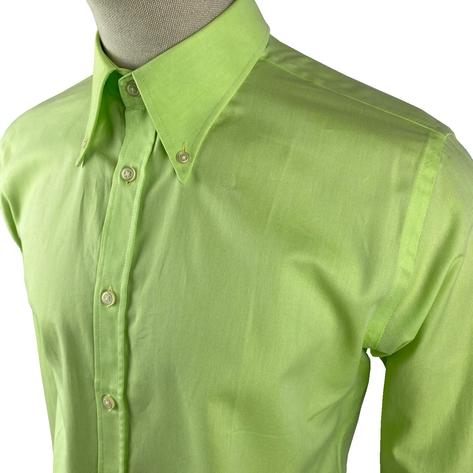 Ska & Soul Cotton Oxford Spearpoint Collar Shirt Lime Thumbnail 3