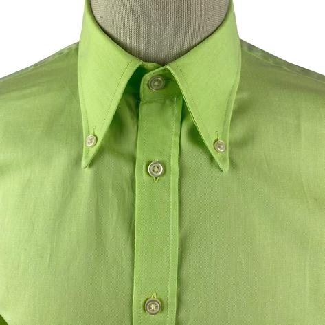 Ska & Soul Cotton Oxford Spearpoint Collar Shirt Lime Thumbnail 4