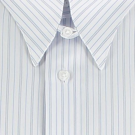 Revival Vintage Sateen Stripe Spearpoint Tab Collar Shirt Blue Thumbnail 3
