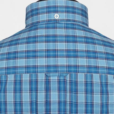 Real Hoxton Blue and Turq Check Short Sleeve Shirt Thumbnail 3