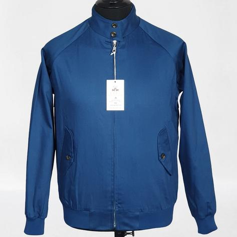 Real Hoxton Raglan Sleeve Harrington Jacket Royal Blue Thumbnail 3