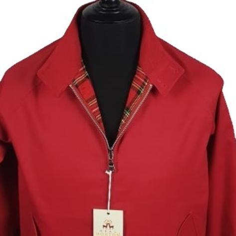 Real Hoxton Raglan Sleeve Harrington Jacket Red Thumbnail 2