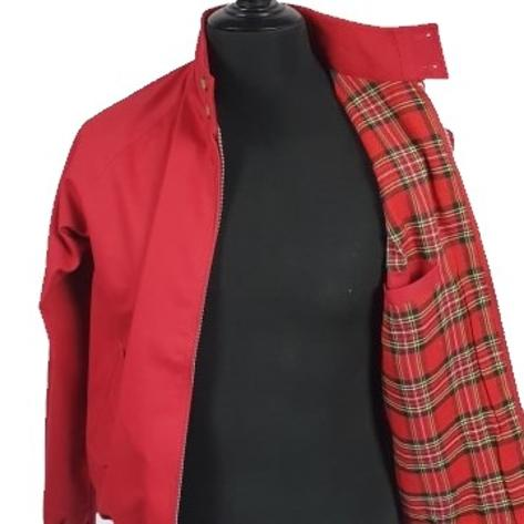 Real Hoxton Raglan Sleeve Harrington Jacket Red Thumbnail 3