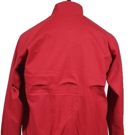 Real Hoxton Raglan Sleeve Harrington Jacket Red Thumbnail 4