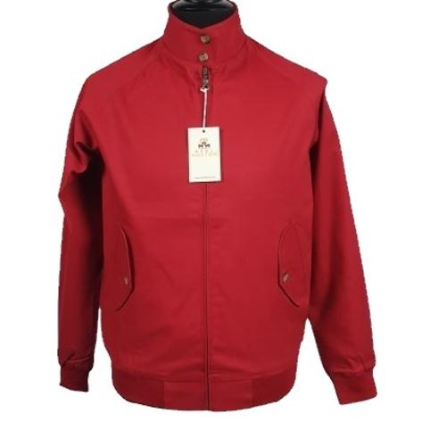 Real Hoxton Raglan Sleeve Harrington Jacket Red Thumbnail 1