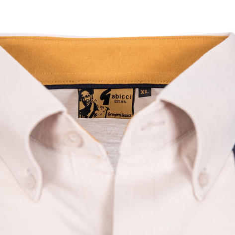 Gabicci Vintage X Gregory Isaacs Button Down Polo Shirt Stone Thumbnail 3