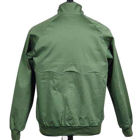 Real Hoxton Raglan Sleeve Harrington Jacket Deep Olive Thumbnail 4