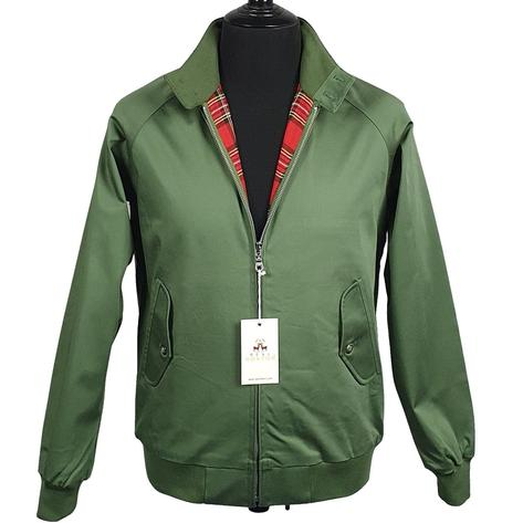 Real Hoxton Raglan Sleeve Harrington Jacket Deep Olive Thumbnail 1