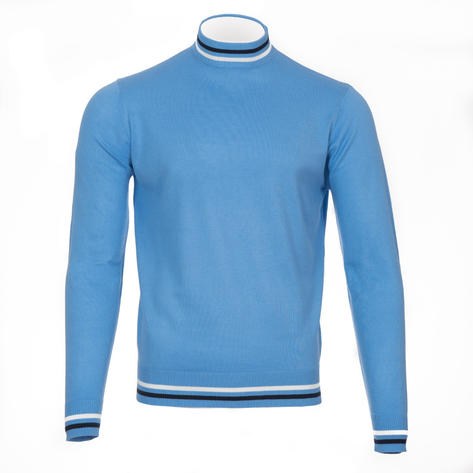Art Gallery Haye Tipped Turtle Neck Knit Blue