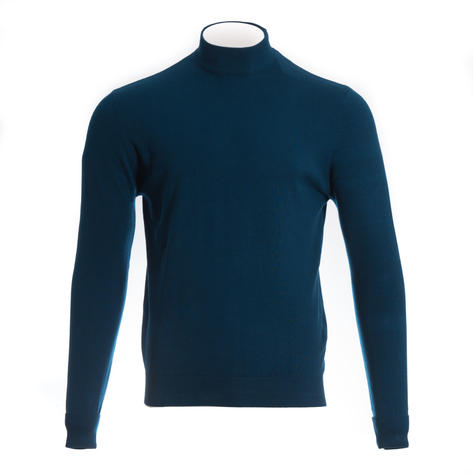 Art Gallery Terence Plain Turtle Neck Mid Blue Thumbnail 1