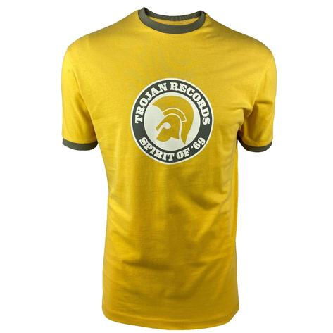 Trojan Records Spirit Of '69 Ringer T-Shirt Mustard Thumbnail 1