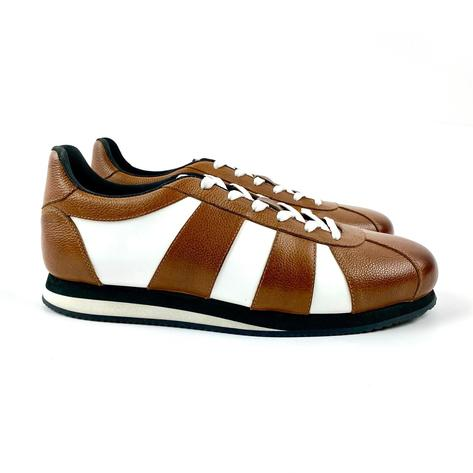 Delicious Junction Leather Chad Retro Trainer Tan  Thumbnail 2
