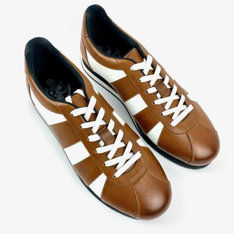 Delicious Junction Leather Chad Retro Trainer Tan  Thumbnail 4