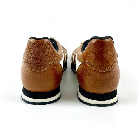 Delicious Junction Leather Chad Retro Trainer Tan Thumbnail 6